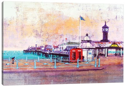 Brighton Phone Boxes Canvas Art Print