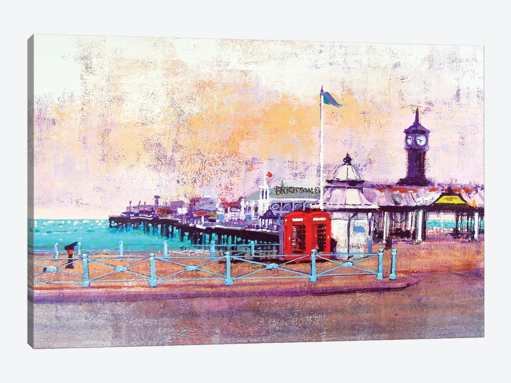 Brighton Phone Boxes by Colin Ruffell 1-piece Art Print