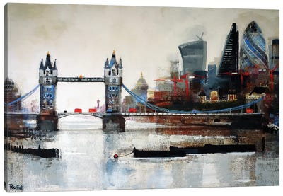Tower Bridge And City Canvas Art Print