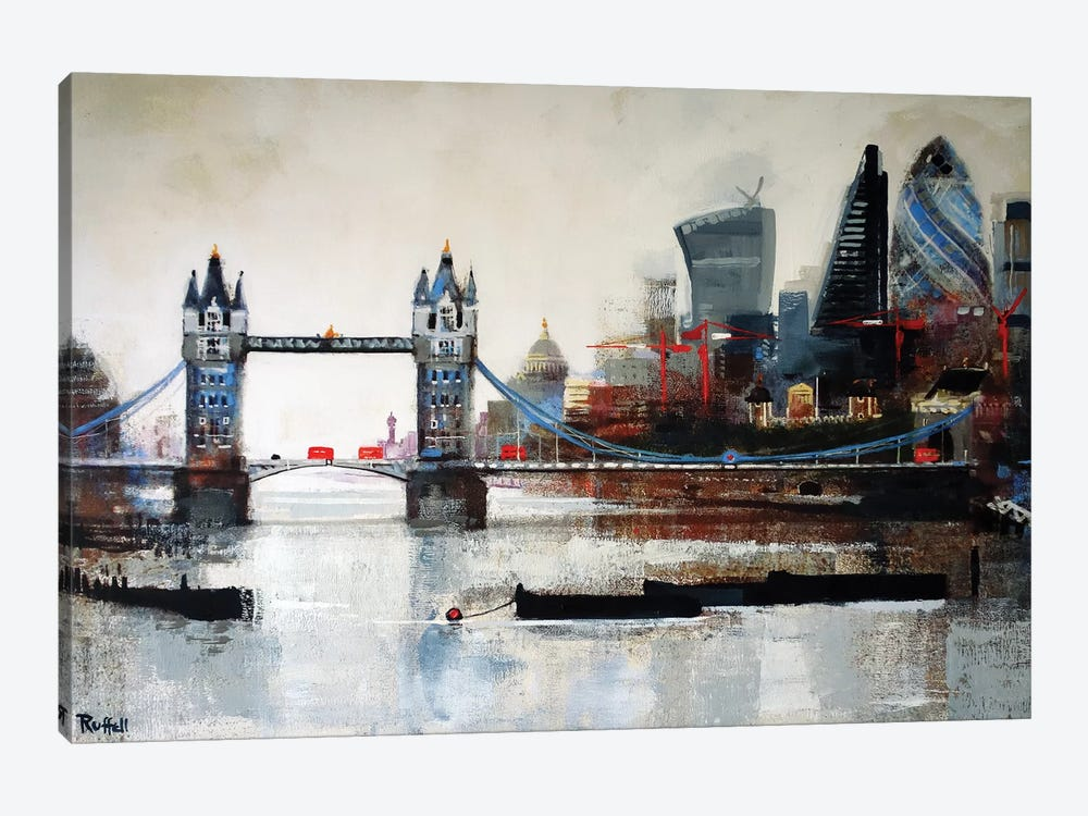 Tower Bridge And City by Colin Ruffell 1-piece Canvas Artwork