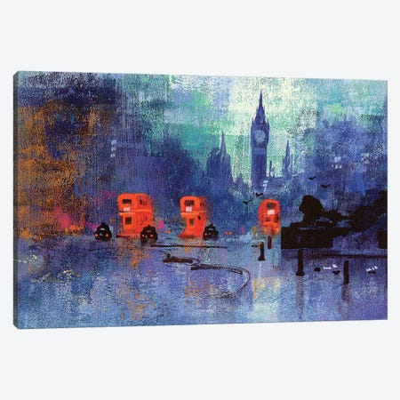 Trafalgar Square Canvas Print #CRU85} by Colin Ruffell Art Print