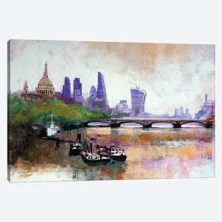 Walkie Talkie Canvas Print #CRU89} by Colin Ruffell Canvas Wall Art