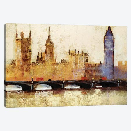 Westminster Bridge Canvas Print #CRU90} by Colin Ruffell Canvas Print
