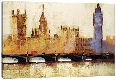 Westminster Bridge Canvas Art Print