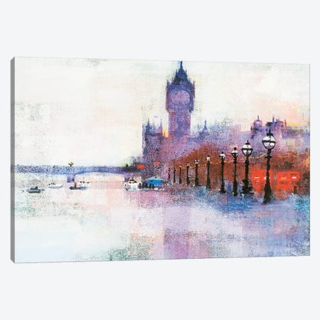 Westminster Pier Canvas Print #CRU91} by Colin Ruffell Canvas Print