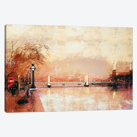 Chelsea Bridge Canvas Print #CRU9} by Colin Ruffell Canvas Print