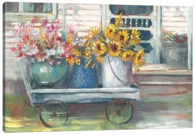 Garden Wagon Bright Canvas Art Print