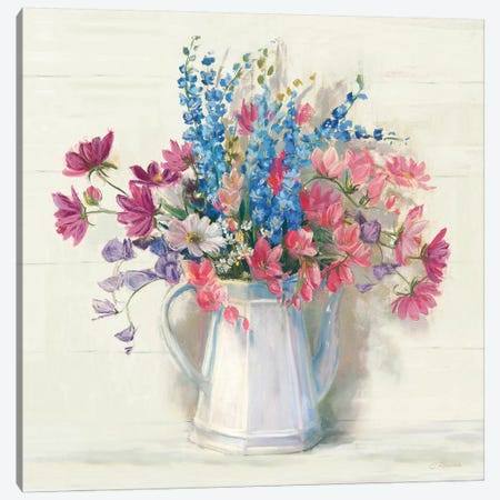 Ironstone Bouquet I Bright Canvas Print #CRW12} by Carol Rowan Art Print