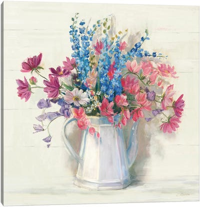 Ironstone Bouquet I Bright Canvas Art Print