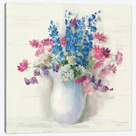 Ironstone Bouquet II Bright Canvas Print #CRW13} by Carol Rowan Canvas Print