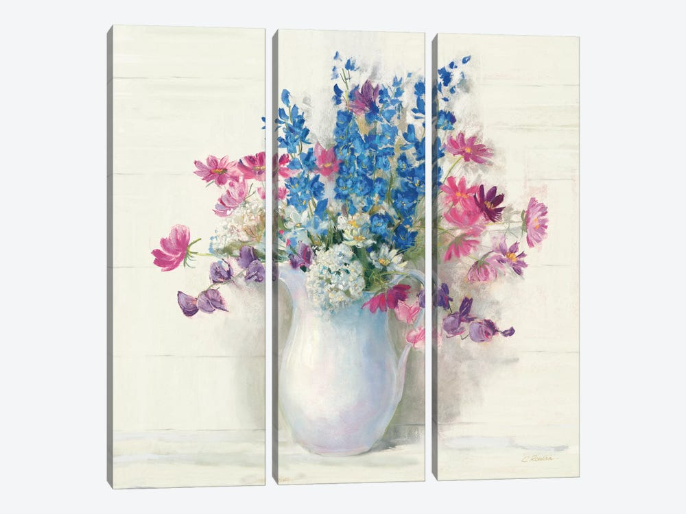 Ironstone Bouquet II Bright by Carol Rowan 3-piece Canvas Art Print