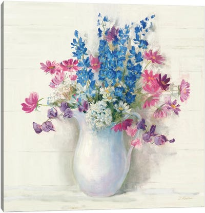 Ironstone Bouquet II Bright Canvas Art Print