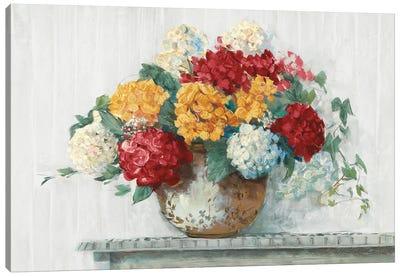 Fall Hydrangea Cottage Crop Canvas Art Print