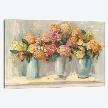 Fall Hydrangea Bouquets Canvas Print #CRW1} by Carol Rowan Canvas Art Print