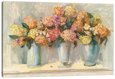 Fall Hydrangea Bouquets Canvas Art Print