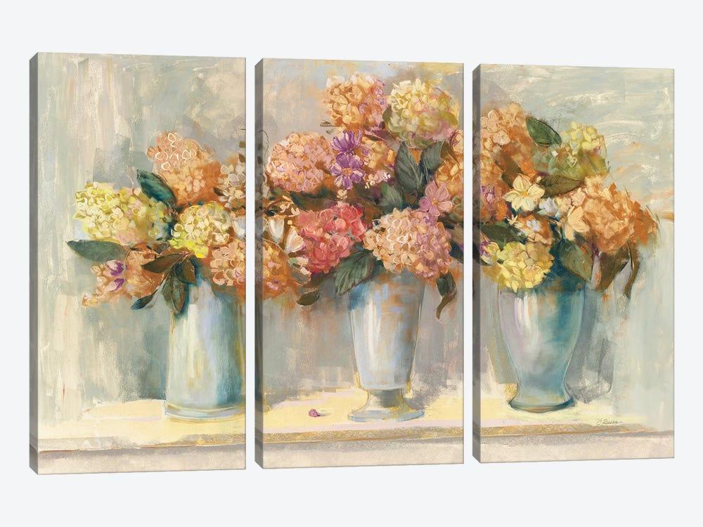 Fall Hydrangea Bouquets by Carol Rowan 3-piece Canvas Print