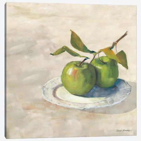 Green Apple I Neutral Canvas Print #CRW24} by Carol Rowan Art Print