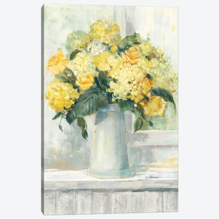 Endless Summer Bouquet I Yellow Canvas Print #CRW3} by Carol Rowan Canvas Art Print