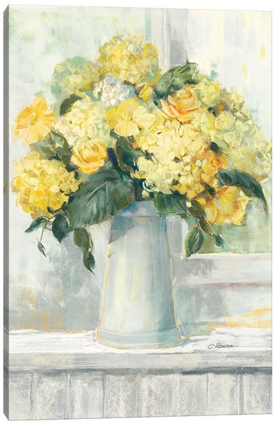 Endless Summer Bouquet I Yellow Canvas Art Print