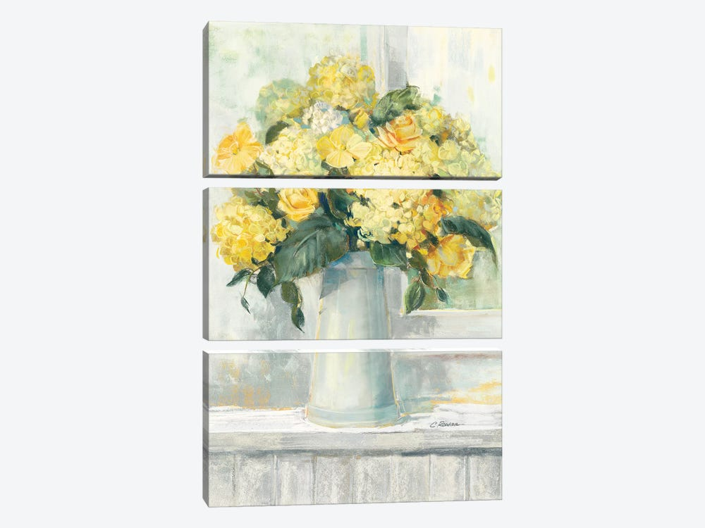 Endless Summer Bouquet I Yellow by Carol Rowan 3-piece Art Print