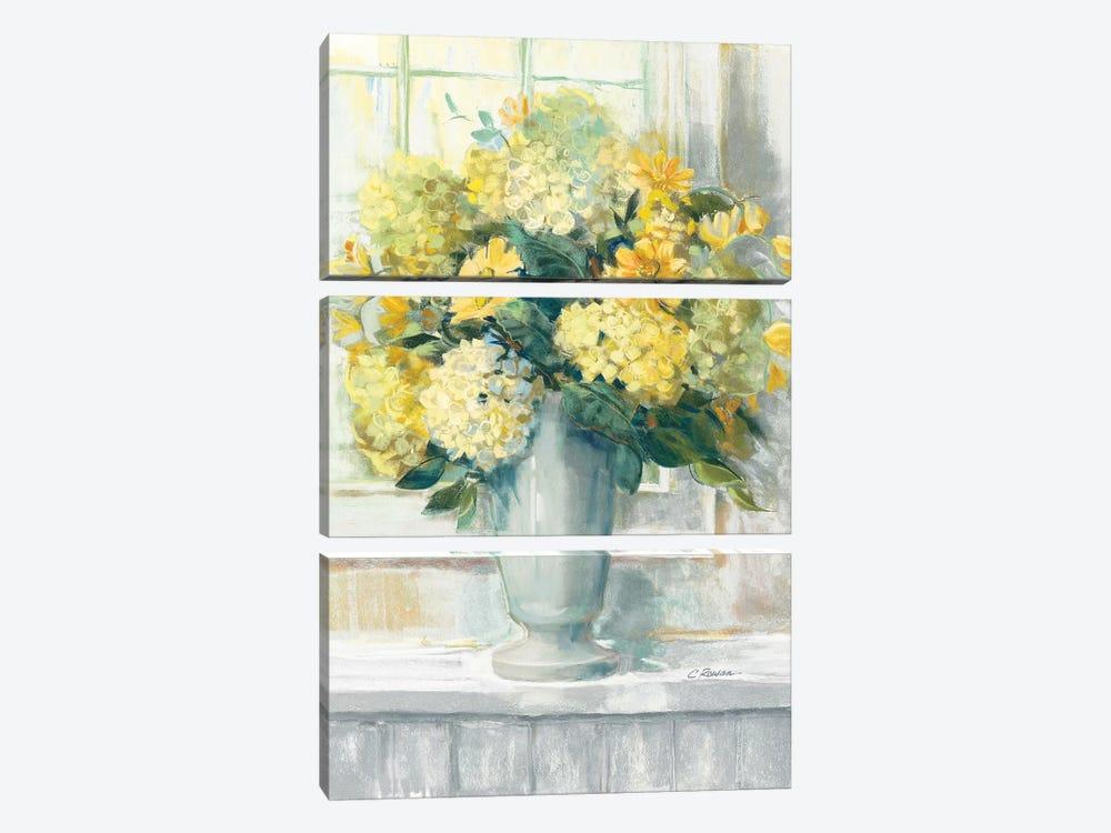 Endless Summer Bouquet II Yellow by Carol Rowan 3-piece Canvas Wall Art