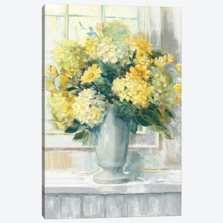 Endless Summer Bouquet II Yellow Canvas Print #CRW4} by Carol Rowan Canvas Art