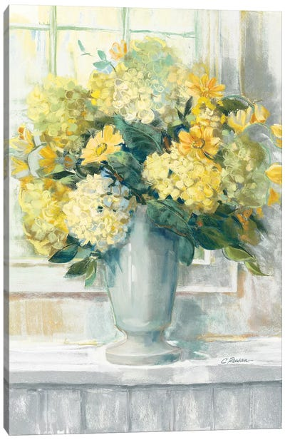 Endless Summer Bouquet II Yellow Canvas Art Print