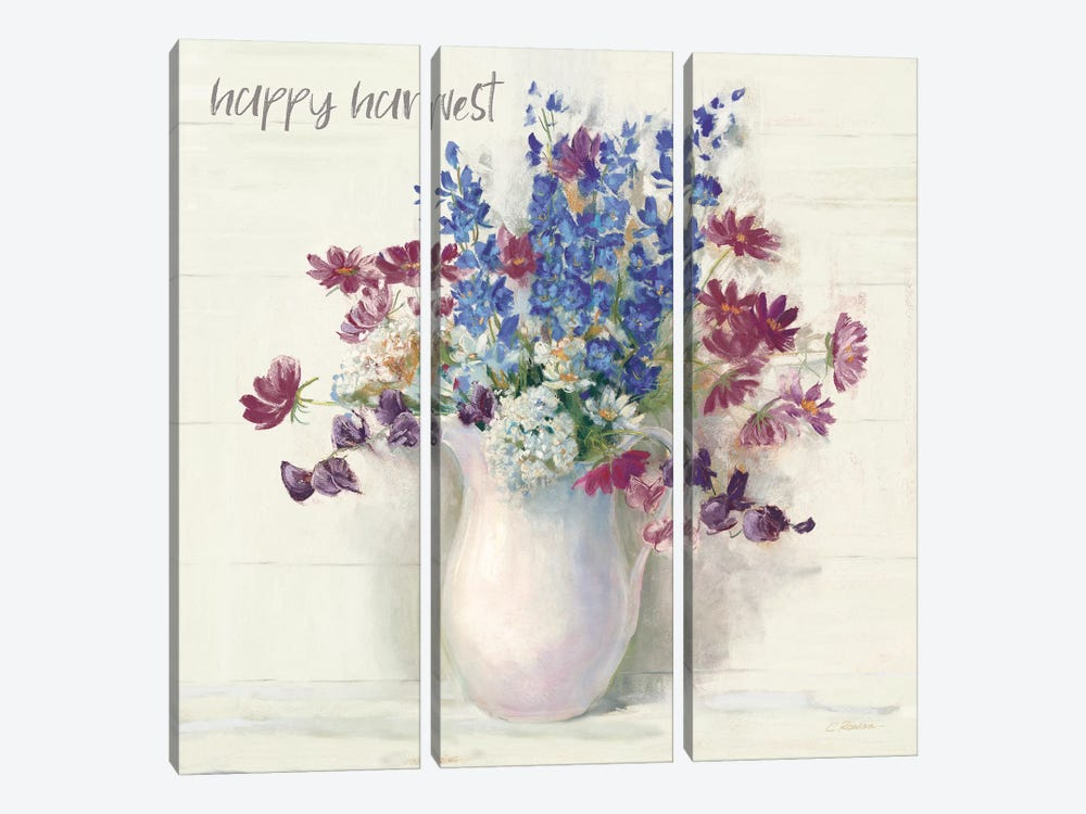 Harvest Ironstone Bouquet II by Carol Rowan 3-piece Canvas Print