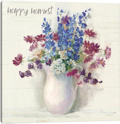 Harvest Ironstone Bouquet II Canvas Art Print