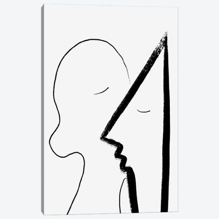 A Sweet Kiss Canvas Print #CSA1} by Atelier Posters Canvas Art Print
