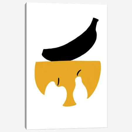 Still Life With Black Banana Canvas Print #CSA32} by Atelier Posters Canvas Art