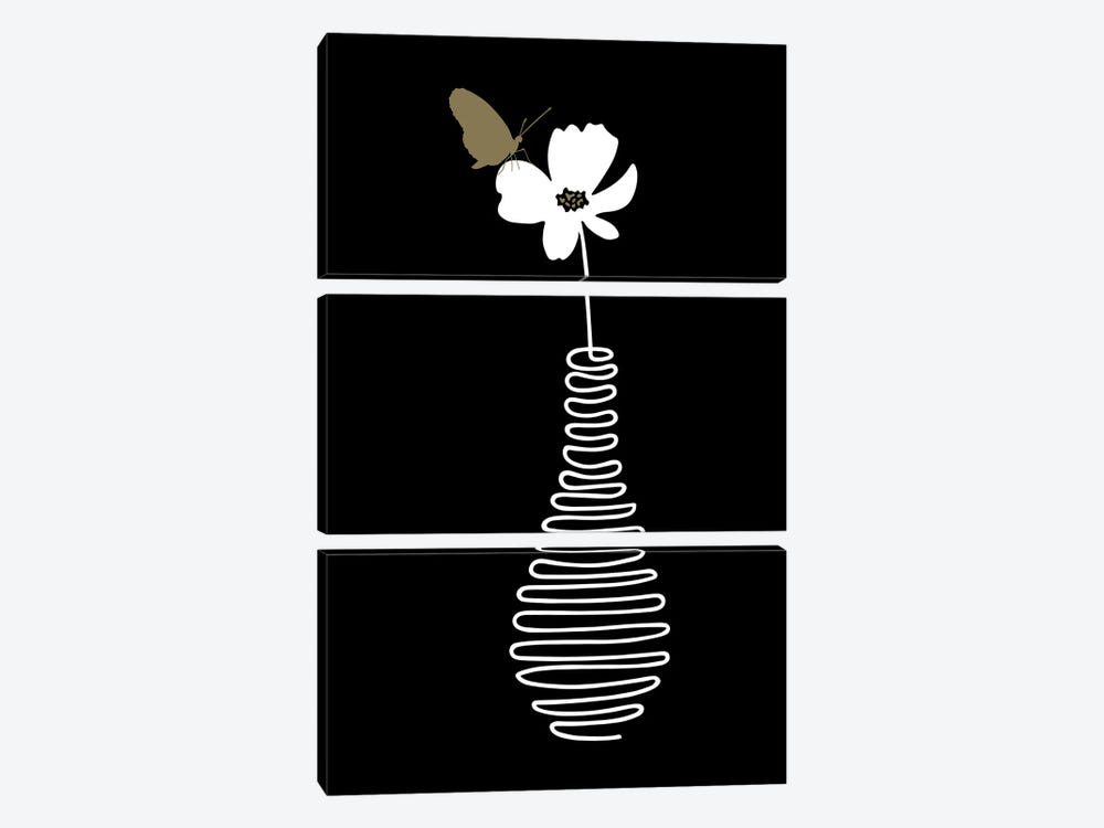 Delicate Flower by Atelier Posters 3-piece Canvas Art