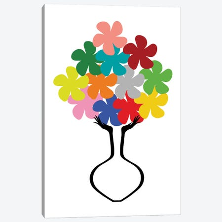 Holding Some Flowers Canvas Print #CSA49} by Atelier Posters Canvas Art Print