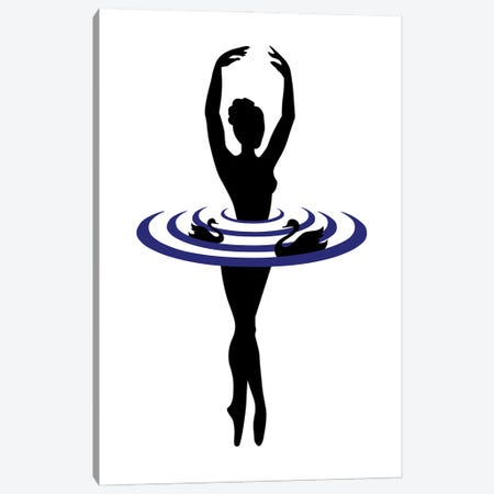 The Black Swan Canvas Print #CSA57} by Atelier Posters Canvas Art Print