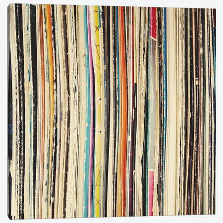 Record Collection Canvas Print #CSB106} by Cassia Beck Canvas Art