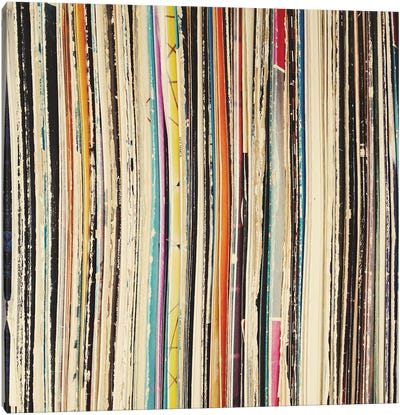 Record Collection Canvas Art Print