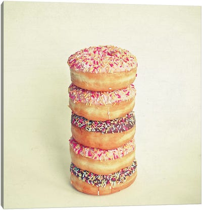 Stack of Donuts Canvas Art Print