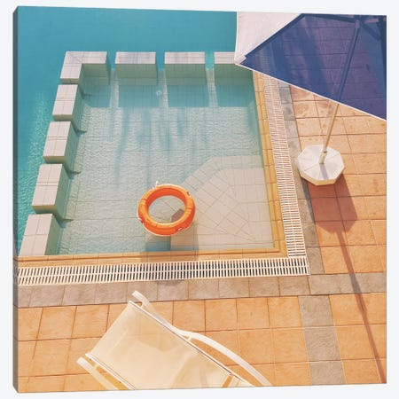Swimming Pool Canvas Print #CSB131} by Cassia Beck Canvas Artwork