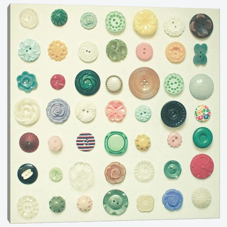 The Button Collection Canvas Print #CSB139} by Cassia Beck Canvas Artwork