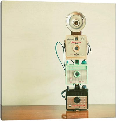 Tower of Cameras Canvas Art Print