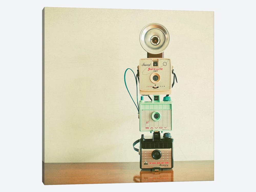 Tower of Cameras by Cassia Beck 1-piece Canvas Wall Art