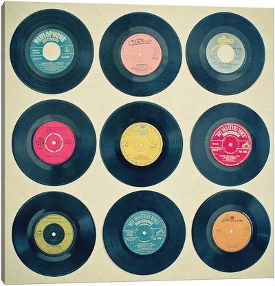 Vinyl Collection Canvas Art Print