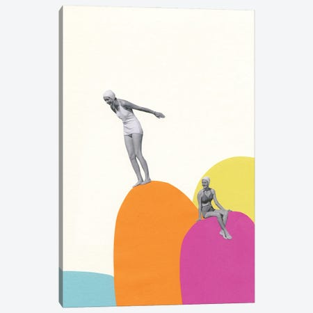 Cliff Diving Canvas Print #CSB155} by Cassia Beck Canvas Art Print
