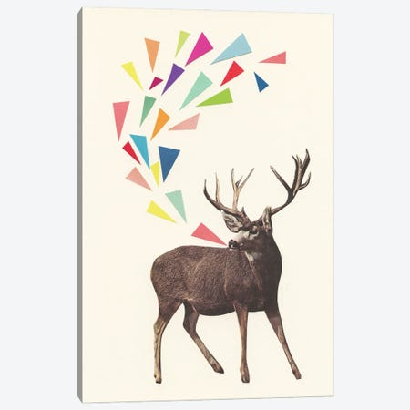 Singing Stag Canvas Print #CSB160} by Cassia Beck Art Print