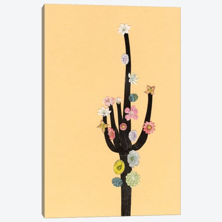 Flowering Cactus Canvas Print #CSB53} by Cassia Beck Art Print