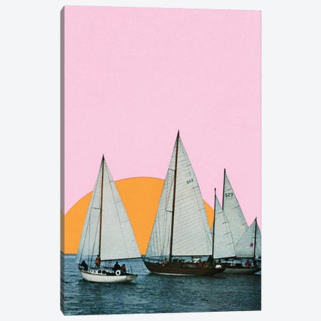 Into the Sunset Canvas Print #CSB63} by Cassia Beck Canvas Wall Art
