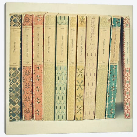 Old Books Canvas Print #CSB82} by Cassia Beck Canvas Artwork