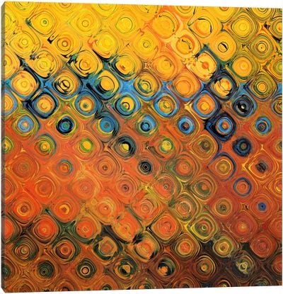 Golden Canopy Bubble Canvas Art Print