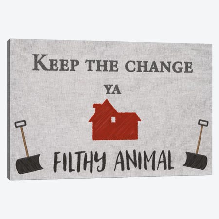 Keep the Change Canvas Print #CSD1} by 5by5collective Canvas Wall Art