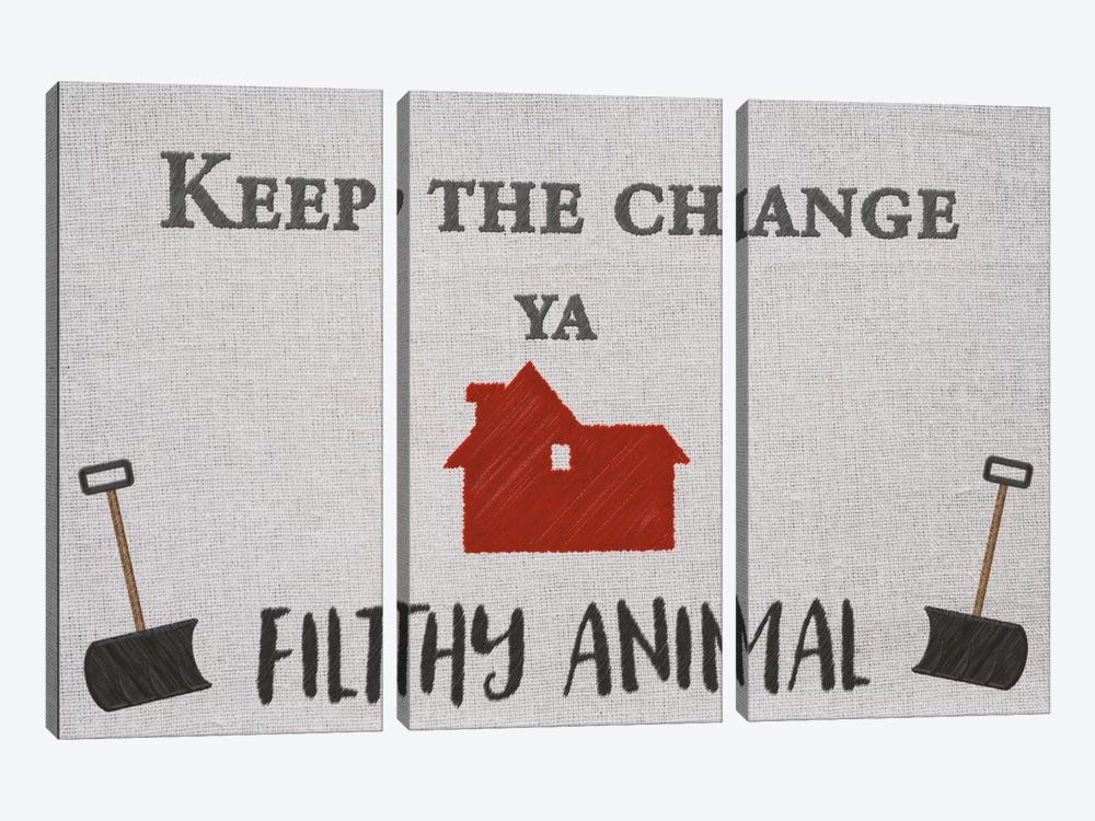 Keep the Change by 5by5collective 3-piece Canvas Art Print